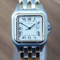 까르띠에 (Cartier) Panthere großes Modell Stahl / 18k Gelbgold...