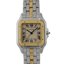 Cartier Gents (Midi) Panthere in Steel & Gold Ref: 8929