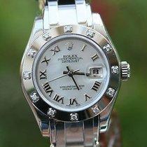 Rolex Ladies Masterpiece President 18k White Gold 12 Diamond...