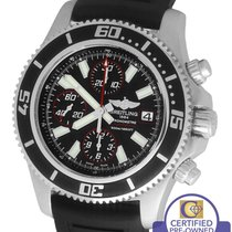 Breitling SuperOcean Chronograph A13341 Black Red 44mm...