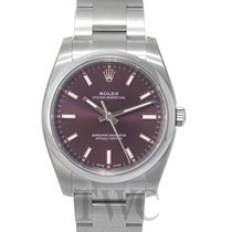 Rolex Perpetual 34 Red Grape/Steel 34mm - 114200