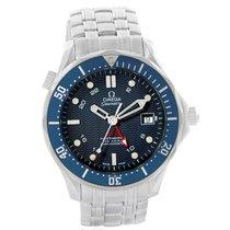 Omega Seamaster Bond 300m Gmt Co-axial Watch 2535.80.00 Box Card