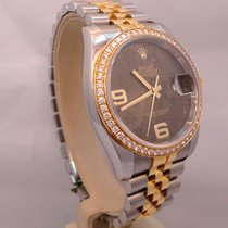 Rolex Datejust 116243 36mm Two Tone 18k Yellow Gold Diamond...