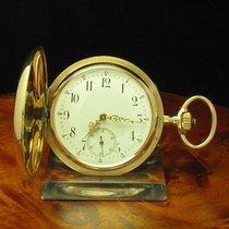 Glocke Union 14kt 585 Gold Savonette Taschenuhr Sondermodell...