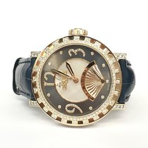 Dewitt Academia Retrograde 18k Rose Gold Factory Diamonds