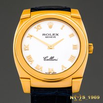 Rolex Cellini Cestello 18K Gold Ref.5320 Papers 32mm Unisex