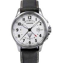 Junkers Tante Ju 6848-1 Quartz Watch Gmt Swiss Movement 100m...