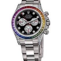 Rolex Unworn 116599 RBOW White Gold Daytona with Diamond Lugs...