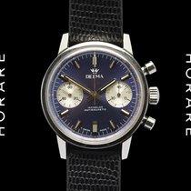 Delma Chronograph Vintage, Blue-White, NOS, Valjoux 7733 - 1960s