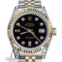 Rolex Woman's Black Rolex 26mm Datejust 18k Gold &...