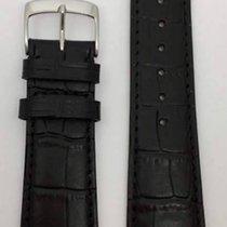 Kaufmann Krokodil Grain Classic Lederband schwarz 22/18mm 449 50