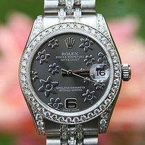Rolex Midsize 31 Mm 178240 Datejust Diamond Dial 4 18k White...