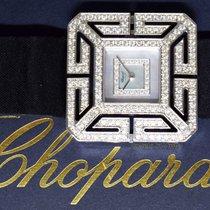 Chopard Joaillerie 18k White Gold MOP Diamond Ladies Watch Box...
