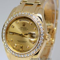 Rolex Masterpiece Day-Date 39mm 18k Gold Diamond Mens Watch...