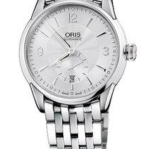 Oris Artelier Small Second, Date Silver Dial Steel Bracelet