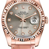 Rolex Datejust 36mm Everose Gold 116135 Steel Diamond