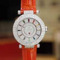 Franck Muller Double Mystery 42mm Diamond Dial in White Gold...