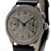 Omega Vintage Chronograph 33-3 Calatrava Case Breguet Numerals...
