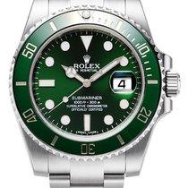 Rolex Submariner Steel Green Ceramic Bezel Date 116610LV