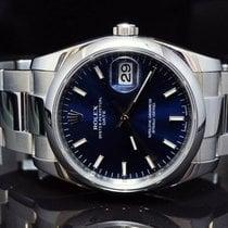 Rolex 2011+ 34mm Oyster Perpetual Date, 115200, MINT, Blue Baton