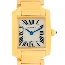Cartier Tank Francaise Yellow Gold Silver Dial Ladies Watch...