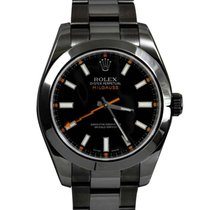 Rolex DLC/PVD 116400 Milgauss - Black Dial w/ Thunderbolt...