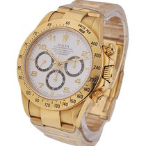 Rolex Used 16528whtarabic Yellow Gold Daytona on Bracelet -...