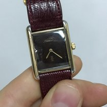 Cartier Must de Cartier tank vermeil argento sterling (oro gold)