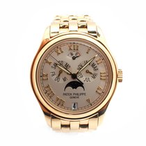 Patek Philippe 18k Yellow Gold Annual Calendar Moonphase