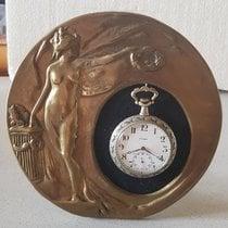 Cyma 40. Cyma enamel pocket watch with holder – Switzerland 1920