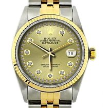Rolex Datejust Men's 36mm Champaigne Dial Yellow Gold And...