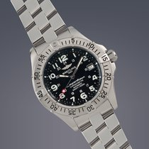 Breitling Superocean stainless steel automatic watch