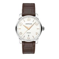 Montblanc 110340 Timewalker 39mm Automatic in Steel - on Brown...