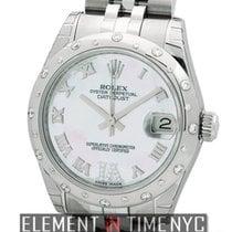 Rolex Datejust Stainless Steel 31mm Diamond Bezel MOP Diamond...