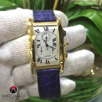 Cartier Tank Americaine 1730 18k Gold Unique Patent Clasp