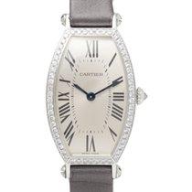 까르띠에 (Cartier) トノーSM K18WG/サテンベルト ダイヤベゼル 純正 003241356