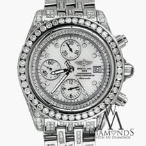 Breitling Evolution A13356 White Dial 18ct Diamond Watch