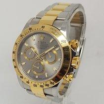 Rolex Daytona Mens Bi Metal 18K Gold & Steel 40mm Watch