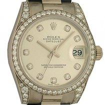 Rolex Datejust Medium Weißgold Diamond Automatik Armband...