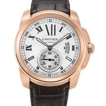Cartier W7100009 Calibre Mechanical 18k Pink Gold Men's...