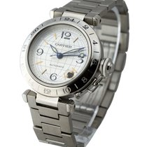 Cartier W31029M7 Pasha C GMT - Silver Dial on Bracelet