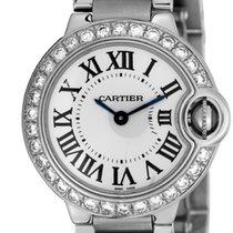 Cartier Ballon Bleu 28mm Steel Diamond Bezel W69010Z4