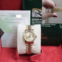 Rolex Ladies President Style 179178 18k Yellow Gold Box &...