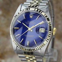 Rolex Datejust Vintage 1601 Solid Gold and Steel 1977 Swiss...