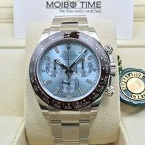 Rolex PT950 Platinium Daytona Ice Blue Baguette Diamond Dial...