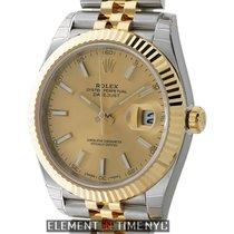 Rolex Datejust II 41mm Steel & Yellow Gold Fluted Bezel...