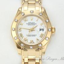 勞力士 (Rolex) PEARLMASTER DATEJUST GELBGOLD 750 DIAMANTEN 29MM...