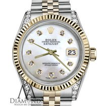 Rolex Ladies Rolex 26mm Datejust 2 Tone White Mop Mother Of...