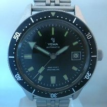 YEMA vintage skin diver 666 feet steel auto date with Gay...