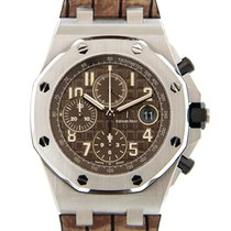 Audemars Piguet New  Royal Oak Offshore Stainless Steel Brown...